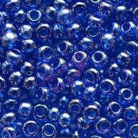Бисер Чехия, прозрачный блестящий, синий, 66300
