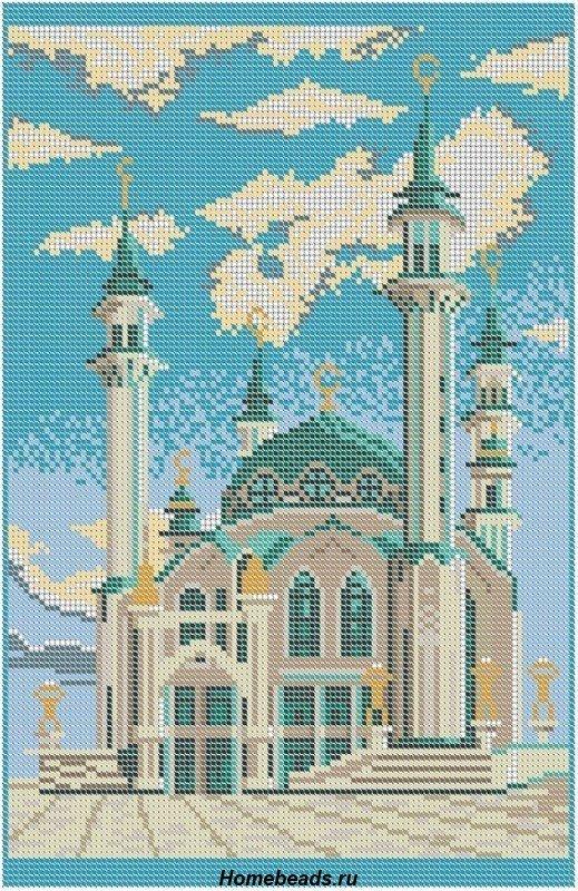 Схем а вышивки мечети 308