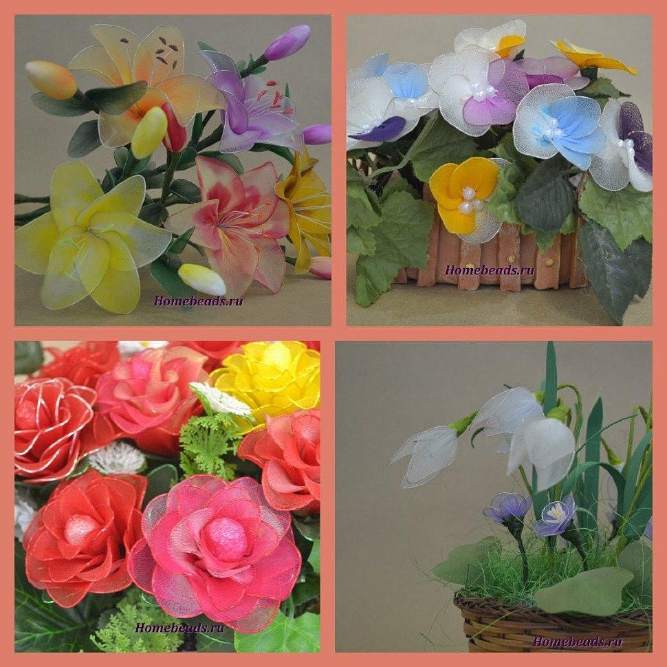 букеты из капрона для цветов и кукол