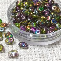 Бусины SUPERDUO, MATUBO (ЧЕХИЯ), 10 г, 2.5 мм x 5мм, Crystal Magic Violet/Green - 00030-95000